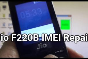 Jio F220B IMEI Repair