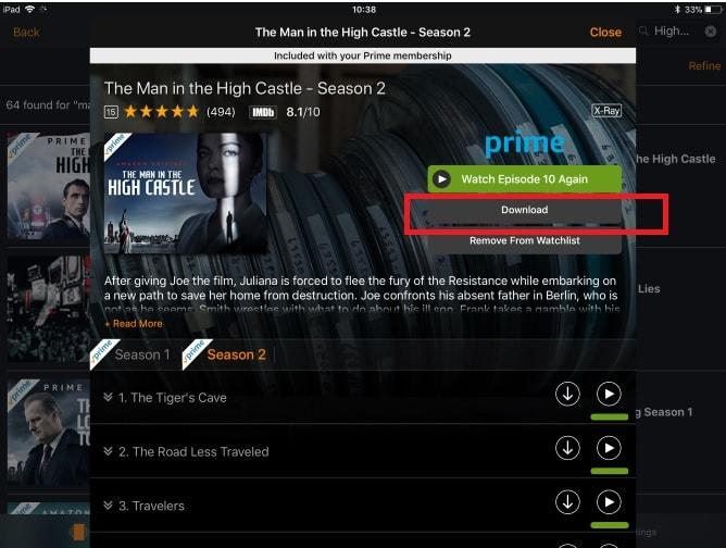 download amazon prime movies on iOS