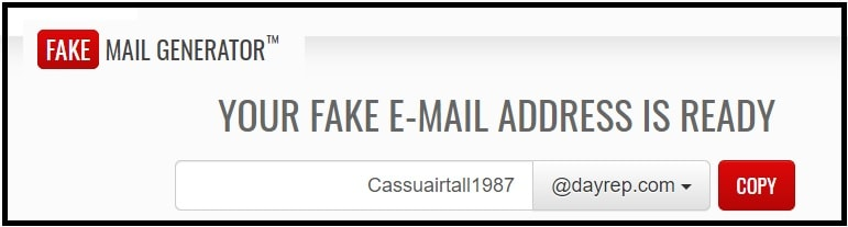 fakeemail generator official site
