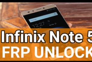 Infinix Note 5 Frp Unlock
