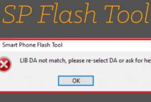 LIB DA not match, please re-select DA or Ask for help