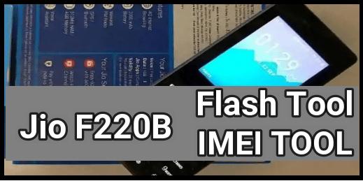 Jio F220B Flash Tool
