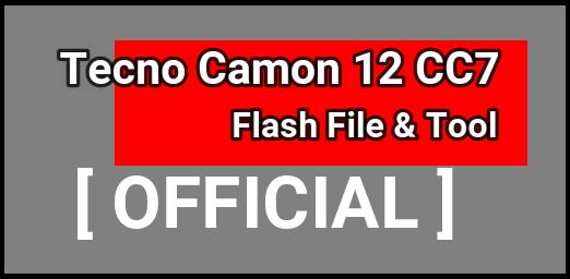Tecno Camon 12 CC7 Flash File