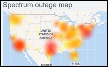 spectrum outage map
