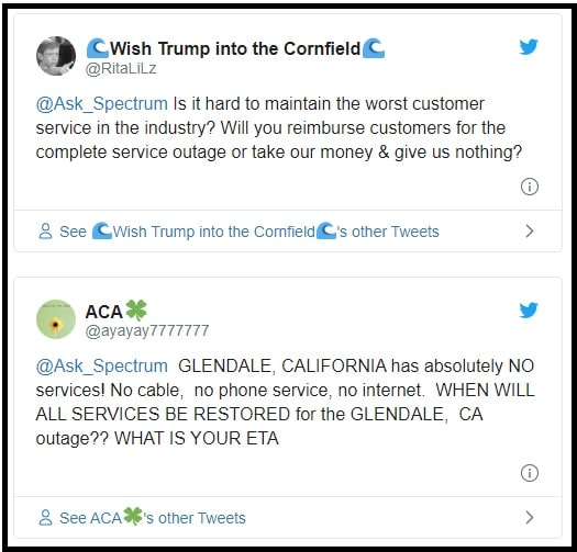 spectrum outage tweets