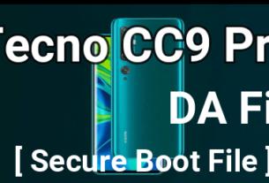 Tecno CC9 Pro DA File