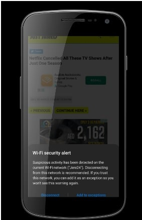 WiFi Security Alert – Suspicious Activity has been Detected on your WiFi