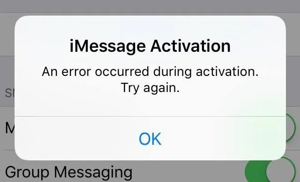 imesage activation failed