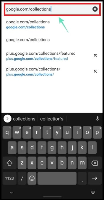 google collections link