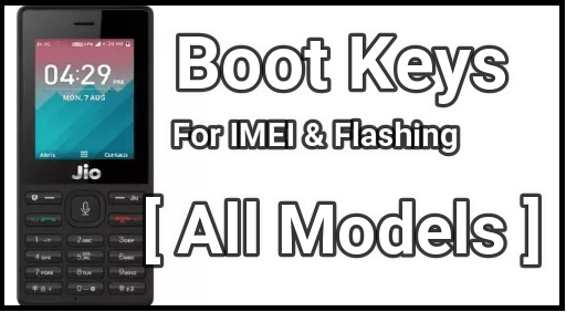 Jio Boot Key For Flashing