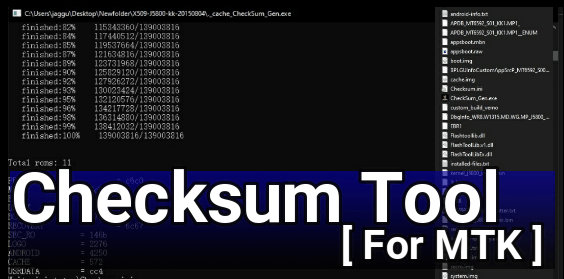 Generate checksum File For MTK Device