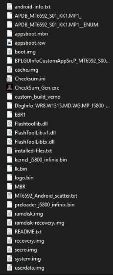 new chcksum file in firmware folder