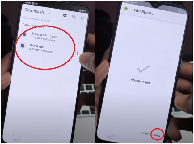install realme frp bypass files