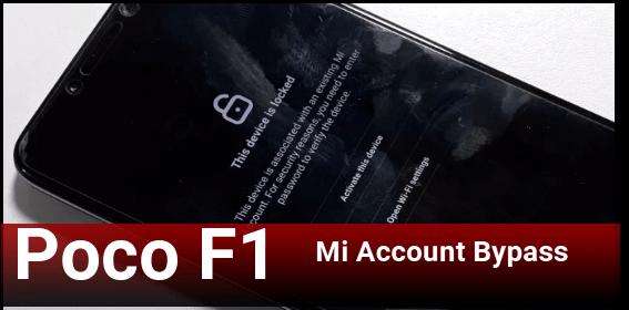 Poco F1 Mi Account Remove Permanently