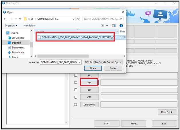 samsung j4 combination file flashing