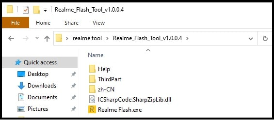 realme flash tool files