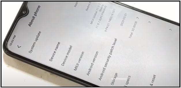 redmi 8a MIUI 11 android pie