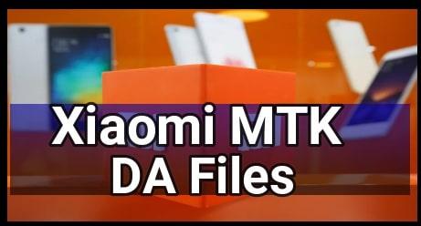 Xiaomi MTK DA File