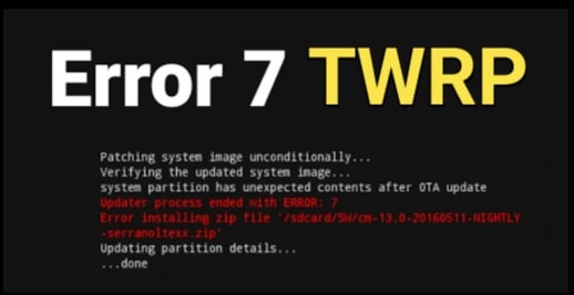 TWRP Error 7