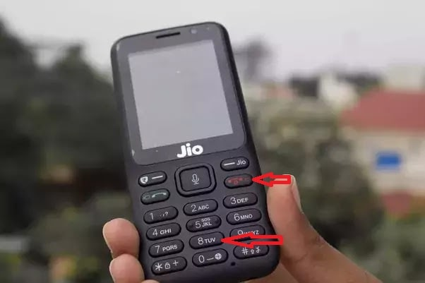 jio f221s hard reset key