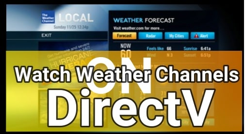 Weather Channel On DirecTV