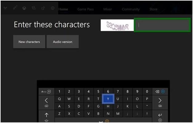 change xbox password