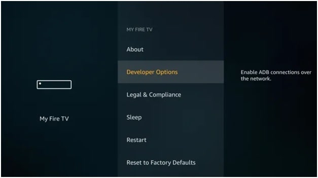 developer option in firestick