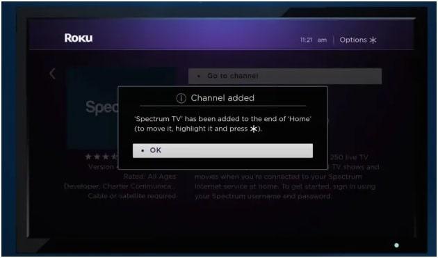 install spectrum tv app on roku