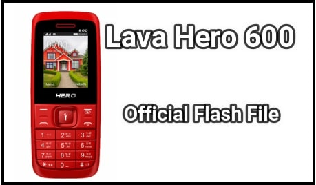 Lava Hero 600 Flash File