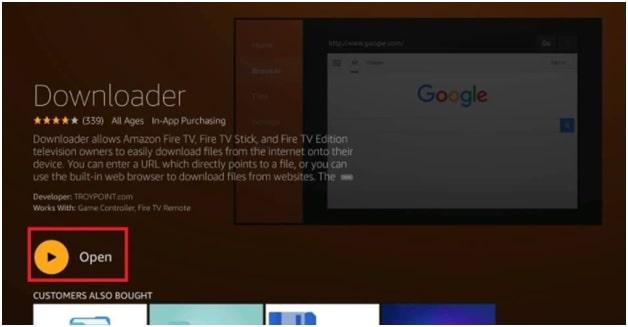 open downloader app on firmestick