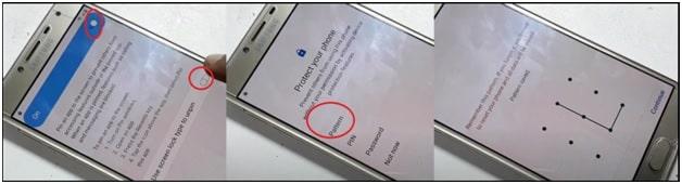 pattern on Samsung