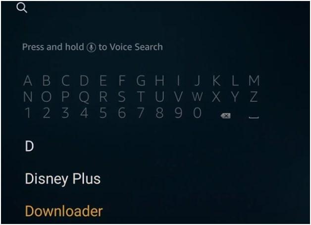 search downloader app in firestick