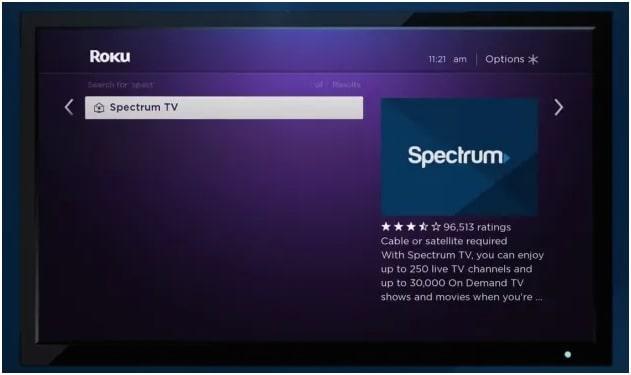 spectrum tv app for roku