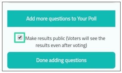 make result publics of polls