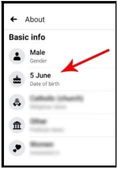 birthday on facebook app