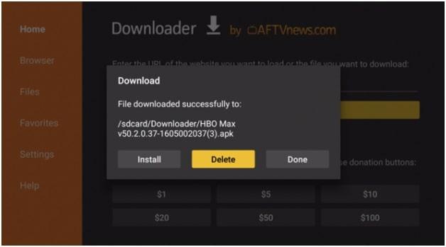 delete app on firestick