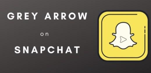 Gray Arrow Check On Snapchat App