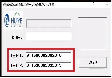 write dual imei for Jio f210b