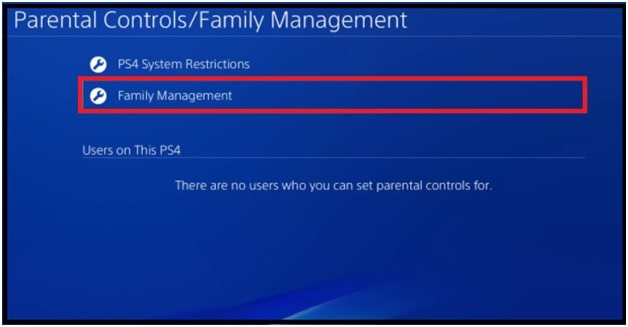 Family Management ps4