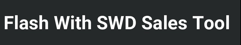 flash with swd after sales tool