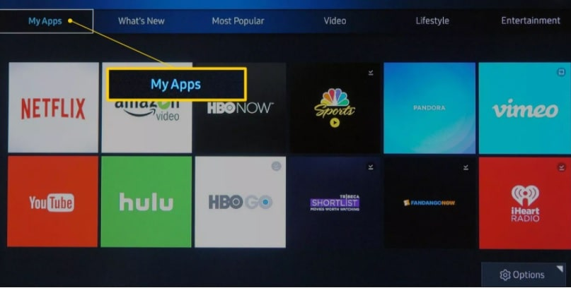 my apps on android Smart tv
