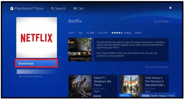 Download Netflix on PlayStation