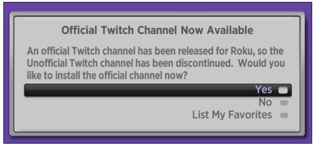 official twitch channel now available