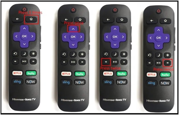 restart roku with remote