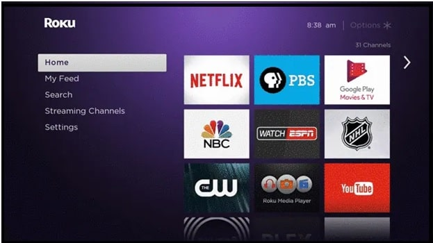 roku home screen