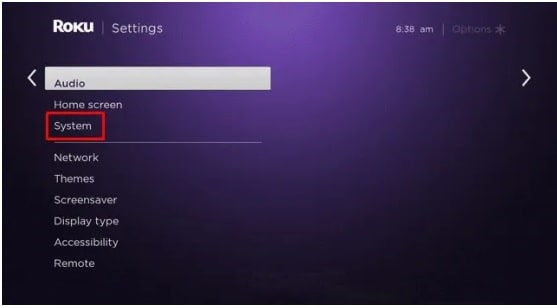 ROKU System Settings