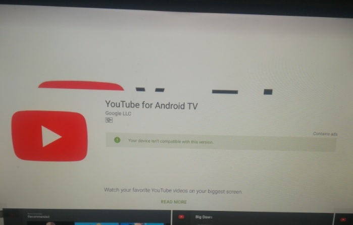 update youyube on Smart tv