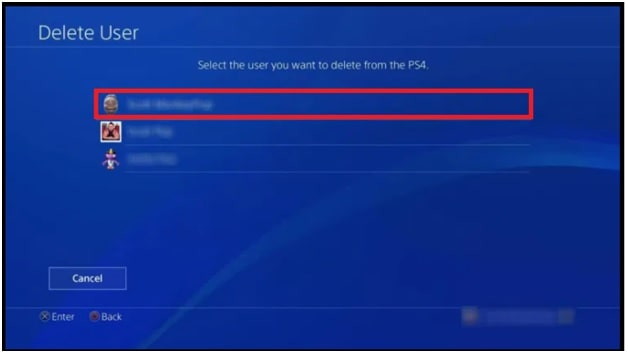 users list on ps4