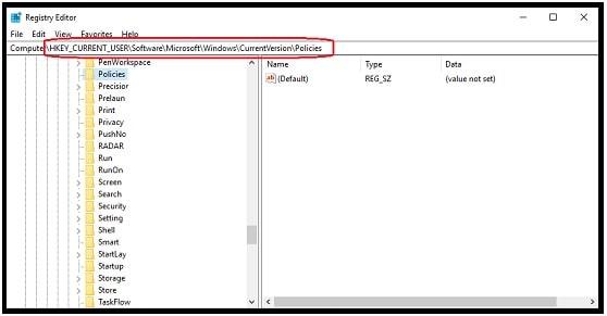 windows 10 registry edito