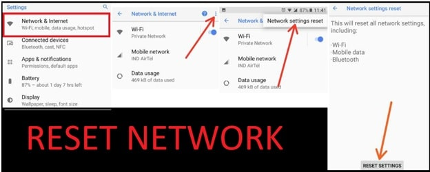 Network Settings Reset On Android Oreo